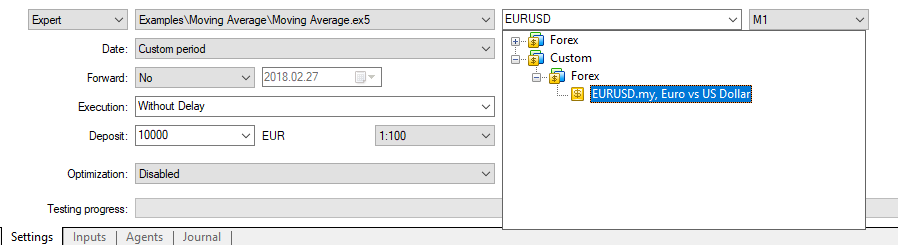 KlondikeFX – Forex Solutions – Importing your own Tickdata into